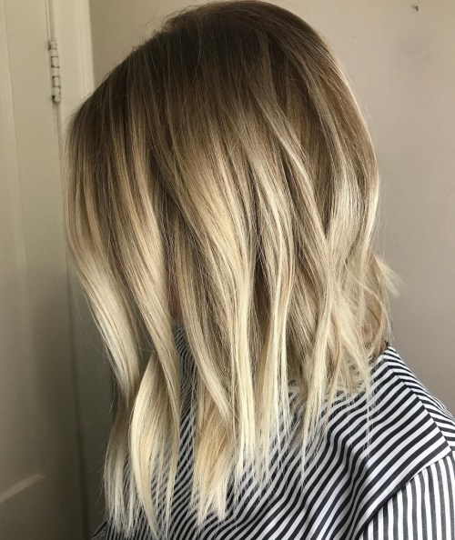 Ash Blonde Textured Lob