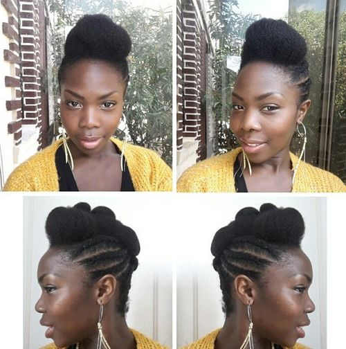 braided natural Mohawk
