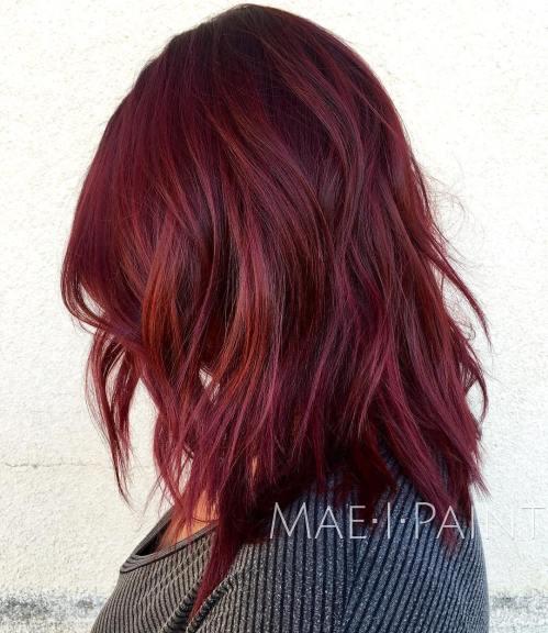 Burgundy And Auburn Hair Color
