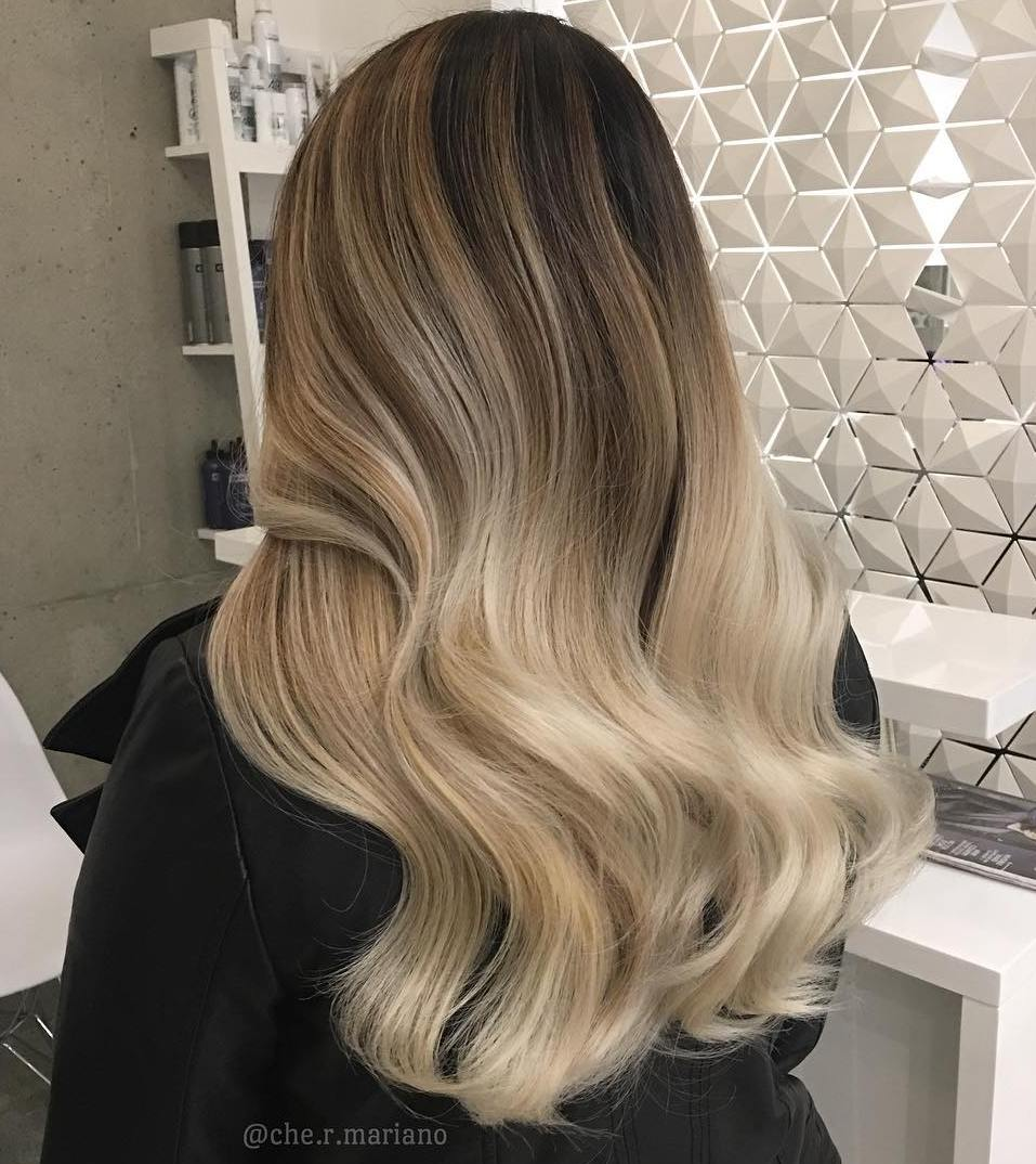 Black and blonde ombre hair color