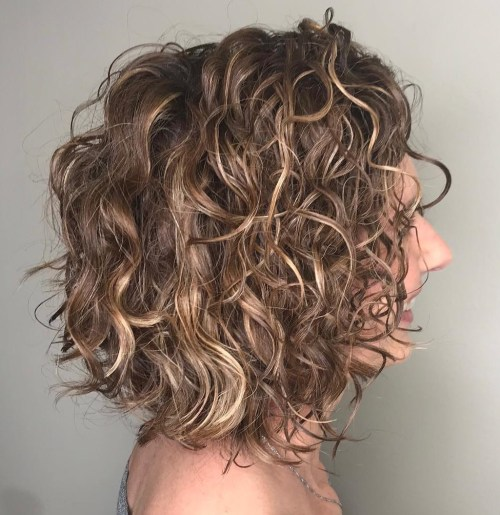 Messy Bob For Curly Hair