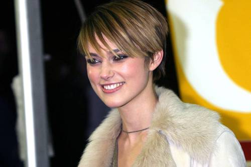 Keira Knightley short hairstyle for square face