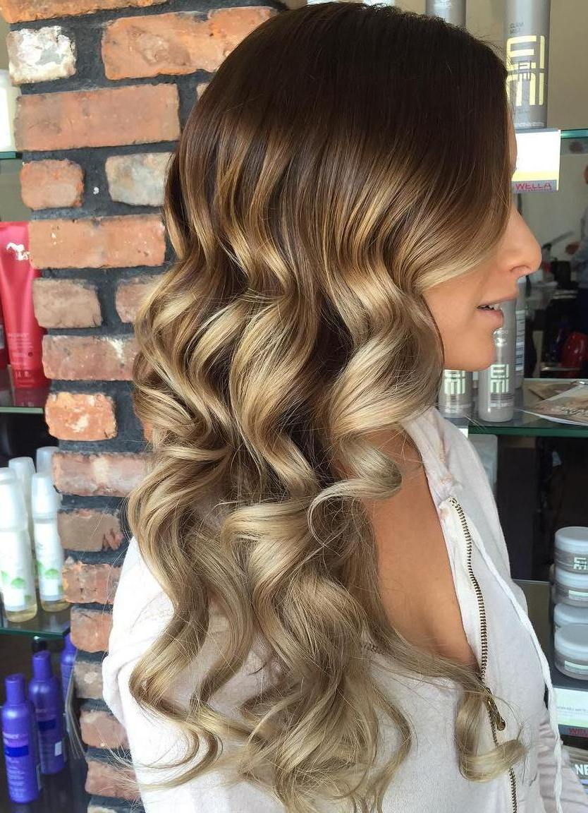 Black hair with blonde ends - Ash Brown Ombre Hair