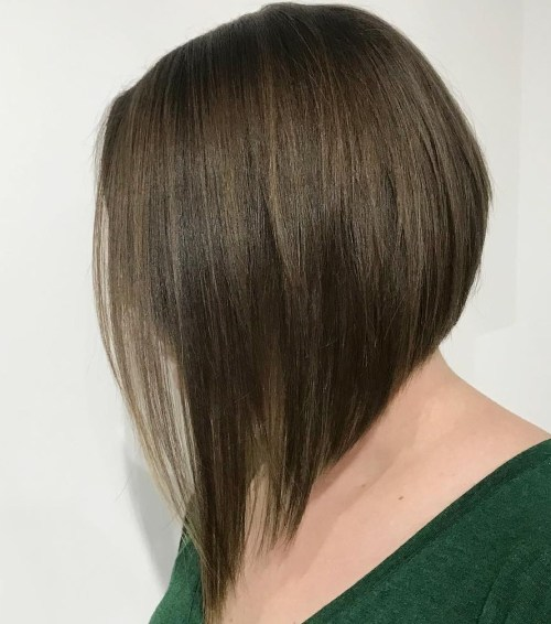 Flowy Slanted Brown Bob