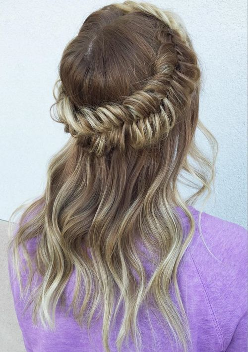 crown fishtail braid for thin hair