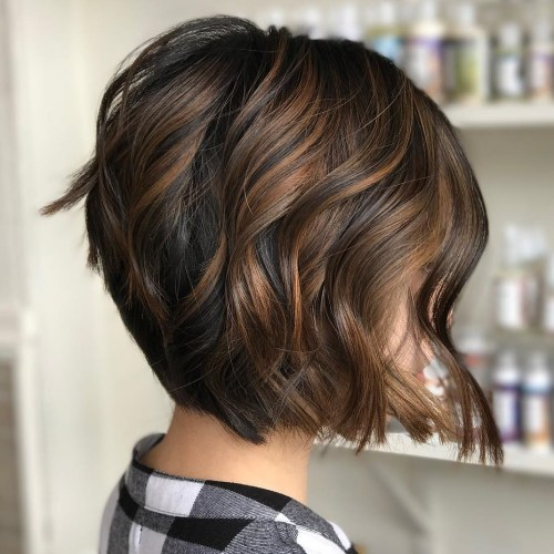 Light Brown Highlights for Black Bob
