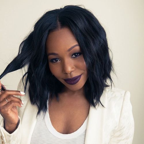 long wavy bob for African American women