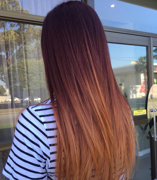 Mahogany To Copper Ombre