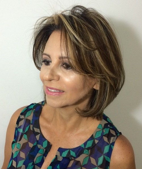 Medium Length Hairstyles For Women Over 50 medium length hairstyles for women over 50 Medium Haircut With Bangs For Thin Hair