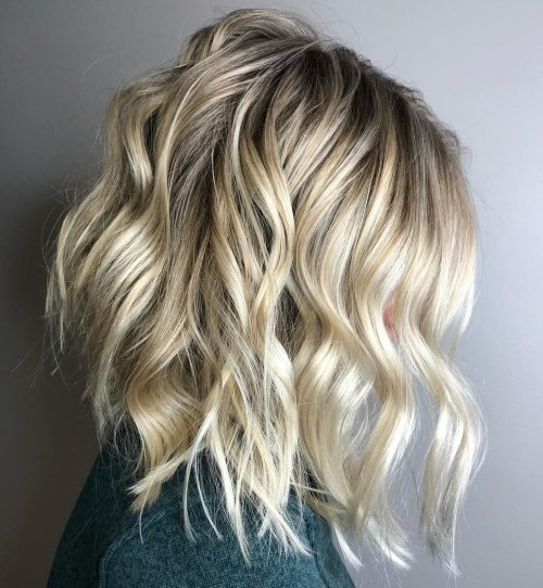 Blonde Bob With Beach Waves