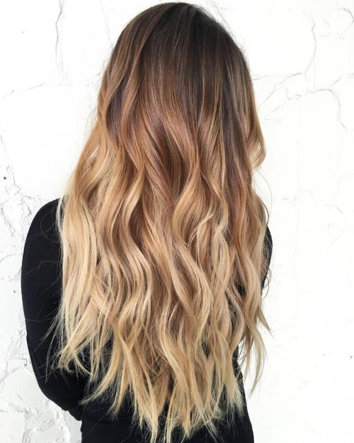 60 best ombre hair color ideas for blond brown red and black hair long brown to blonde ombre urmus