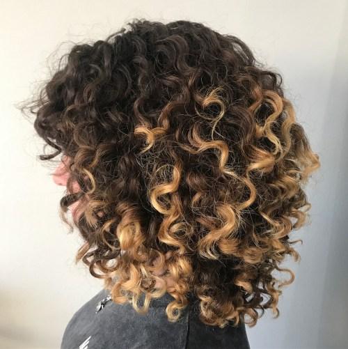 Medium Natural Highlighted Hair