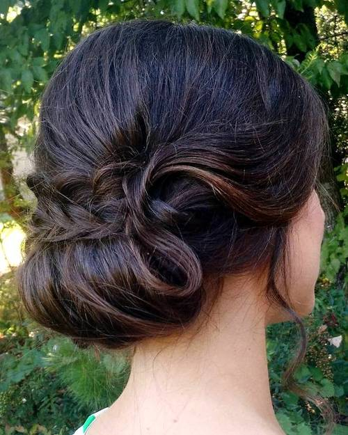 sophisticated chignon updo