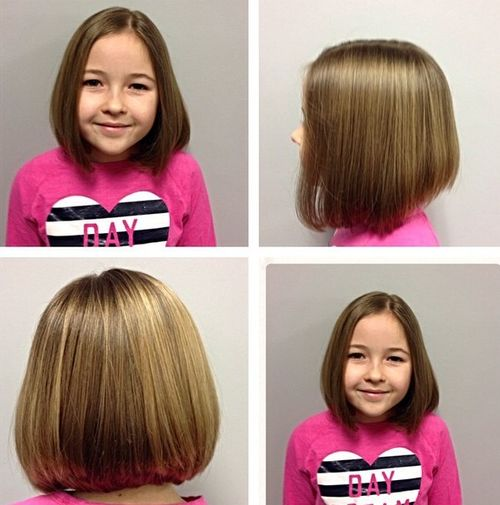 cute collar-bone bob haircut for girls