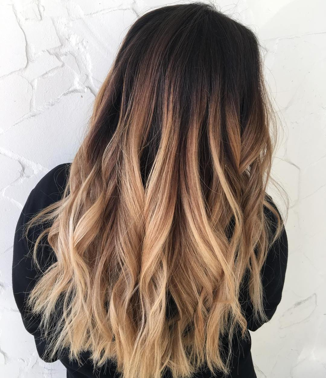 Brown Dark hair with caramel ombre best photo
