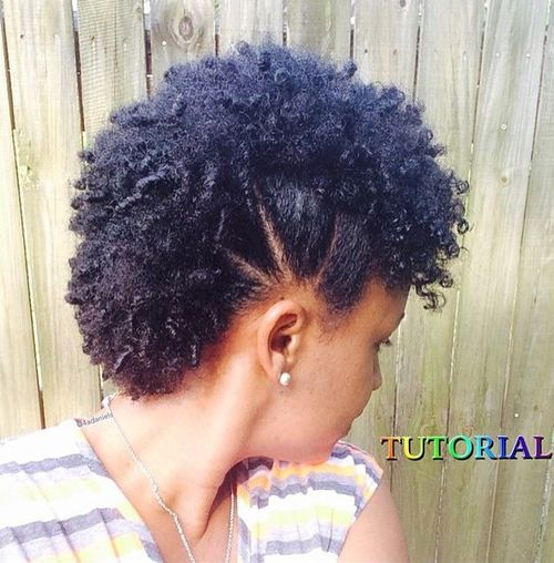 hair styles for short natural hair 75 most inspiring hairstyles for hair in 2019 2497 | 3 sectioned mohawk with small coils