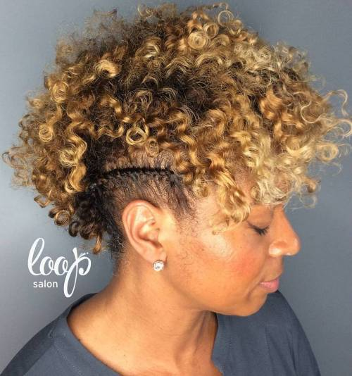 Short Natural Hairstyle With Braided Sides