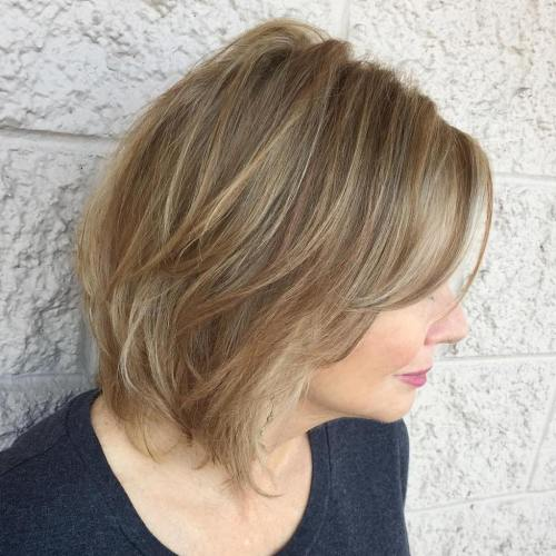 50+ Medium Layered Haircut