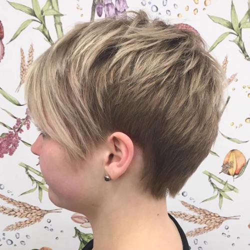 Choppy Pixie Haircut With Bangs