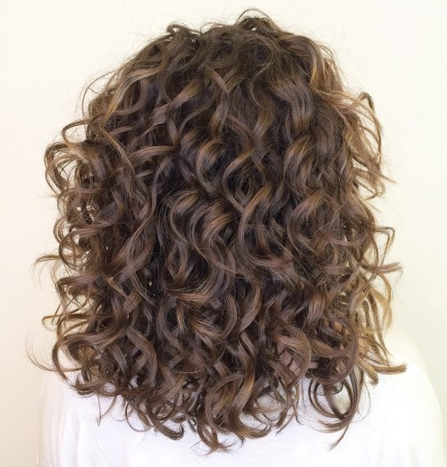 Shoulder-Length Curly Hairstyle