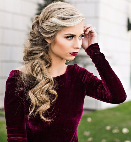 Curls To One Side Wedding Hairstyles: 50 Best Hairstyles For Square Faces Rounding The Angles