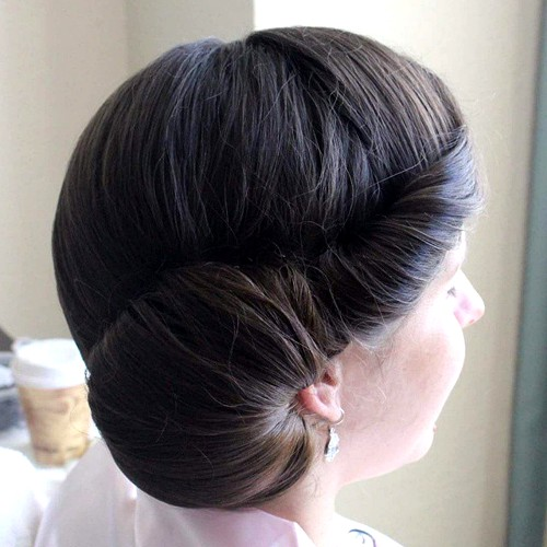vintage side updo for prom