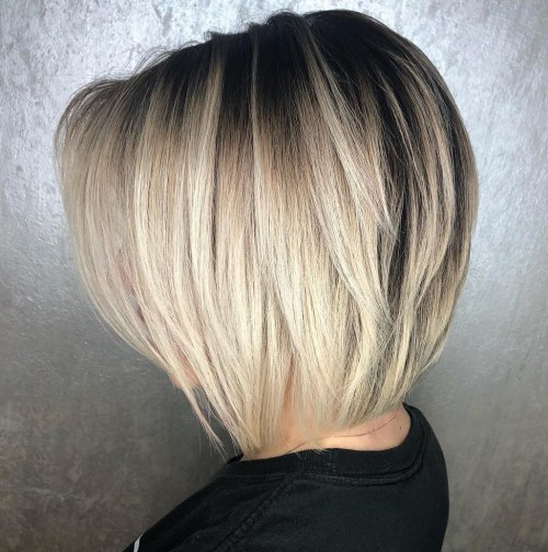 Blonde Tapered Bob