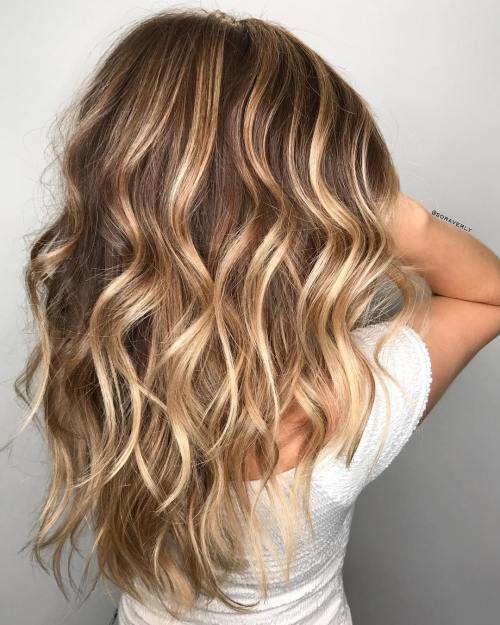 15 Balayage Hair Color Ideas With Blonde Highlights: 50 Light Brown Hair Color Ideas With Highlights And Lowlights