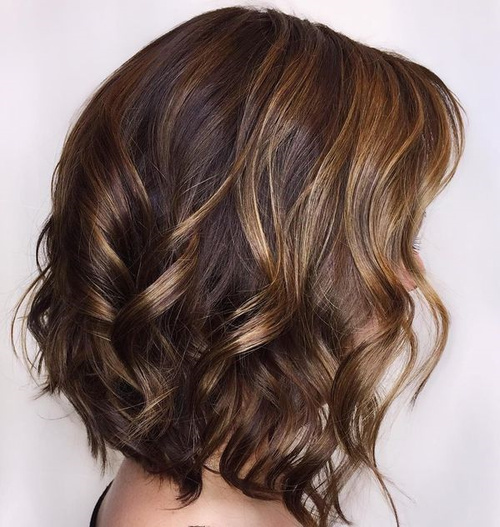 60 looks with caramel highlights on brown and dark brown hair curly brown bob with caramel highlights pmusecretfo Image collections