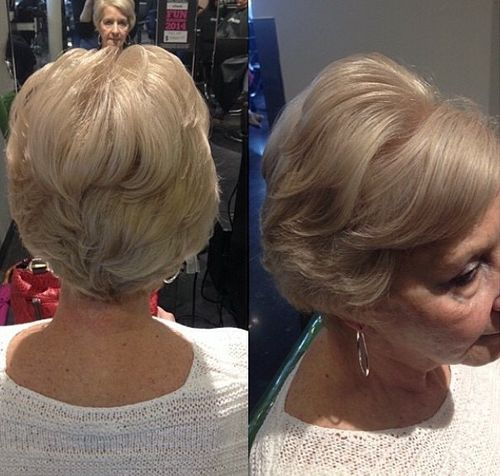 older women's short elegant hairstyle