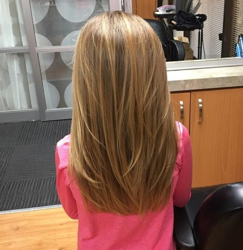 Long Layered Hairstyle For Little Girls