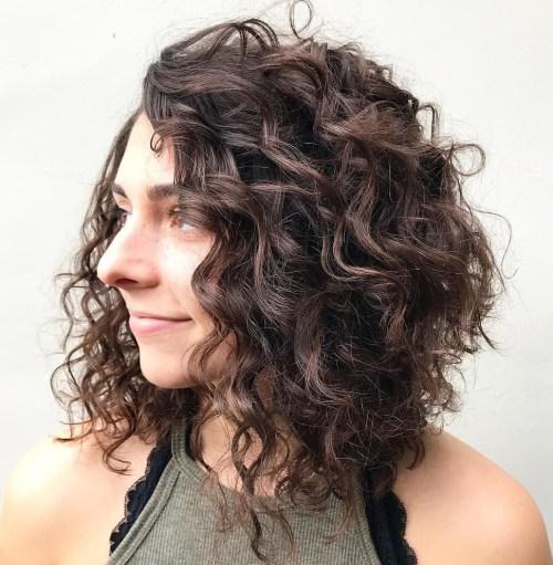 Angled Curly Lob