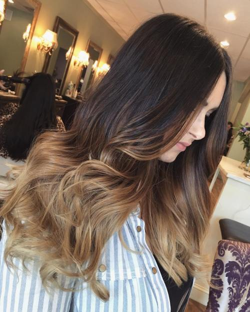 Light Brown Ombre For Brunettes