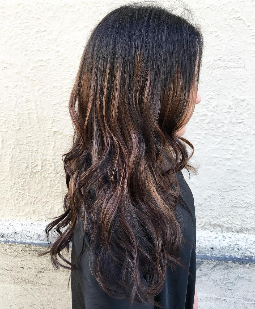 Dark Brown Hair High Lights