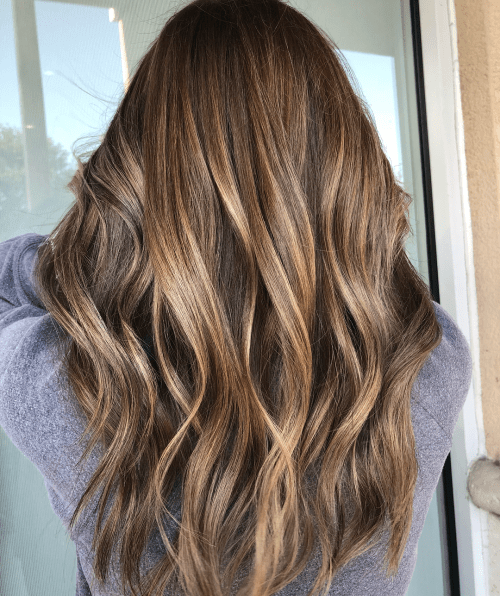 Brown Hair With Warm-Toned Shiny Highlights
