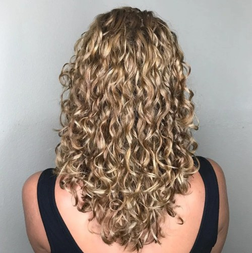Medium-To-Long Curly Cut