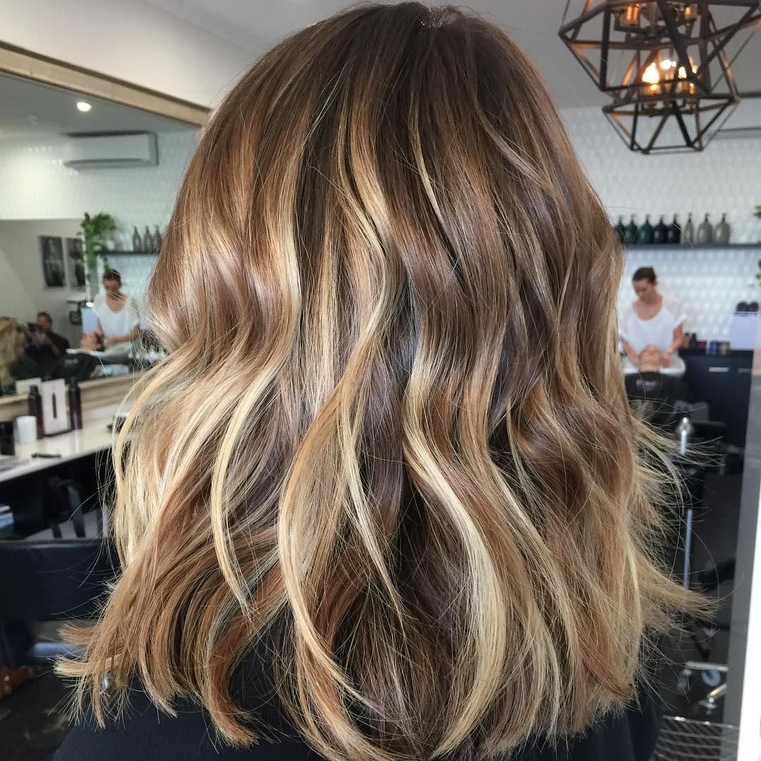 Nice Blonde Balayage For Brown Hair