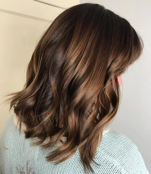 Glossy Light Chocolate Balayage Hair