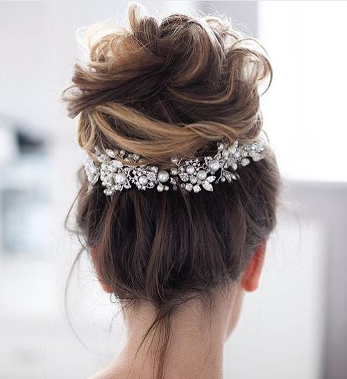 high messy updo