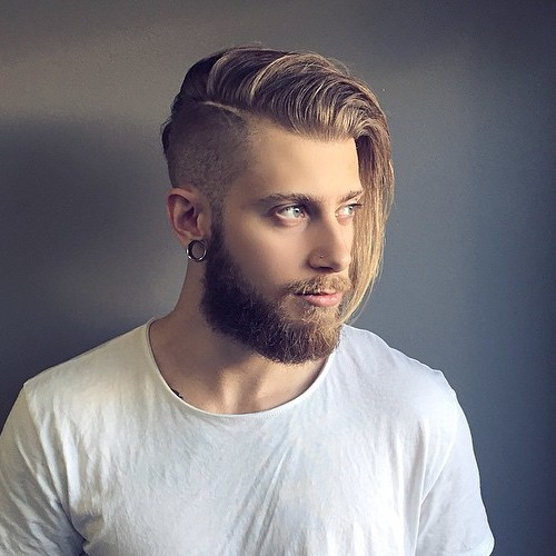 Marvelous Side Part Long Top Undercut For Men