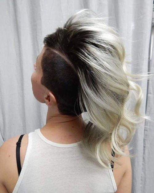 Women's Black And Blonde Undercut