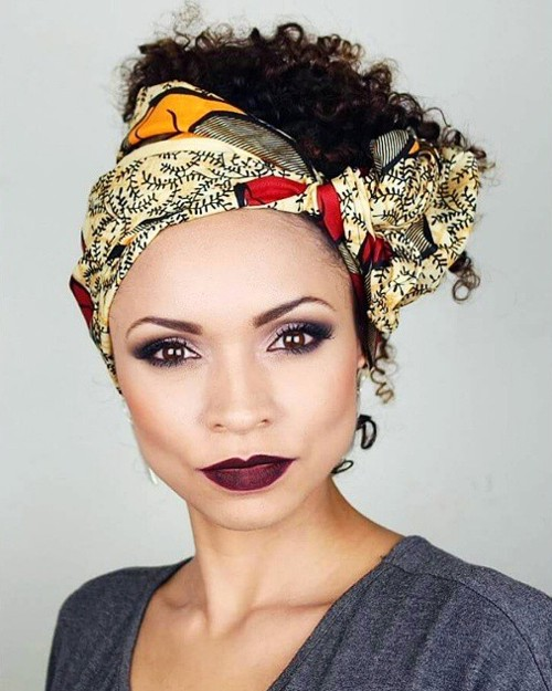 bandana hairstyle for curly hair
