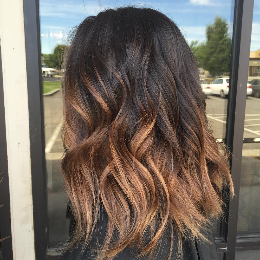 Caramel Hair Color With Ombre