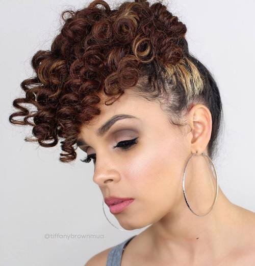 High Curly Pony Updo