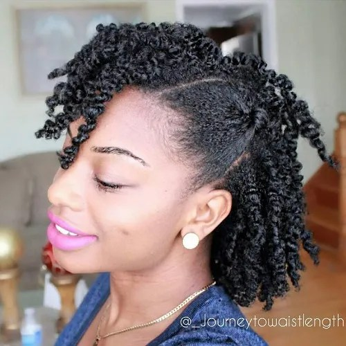 Medium Twisted Natural Hairstyle