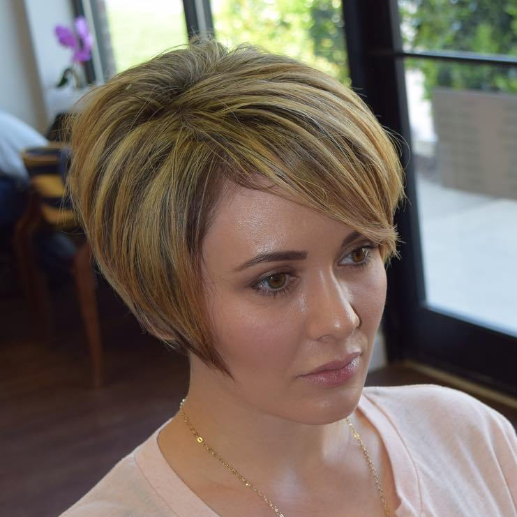 Short Angled Bob With Bangs