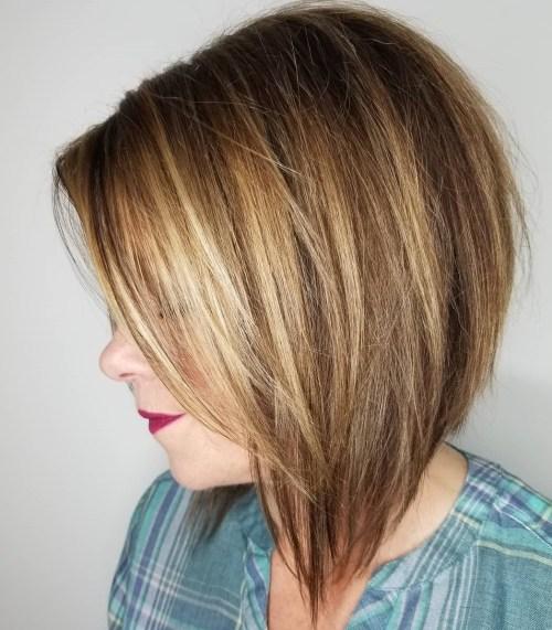 Straight Layered Inverted Bob Haircut