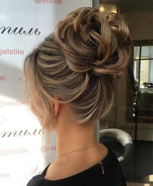 60 updos for thin hair that score maximum style point looped bun updo pmusecretfo Image collections