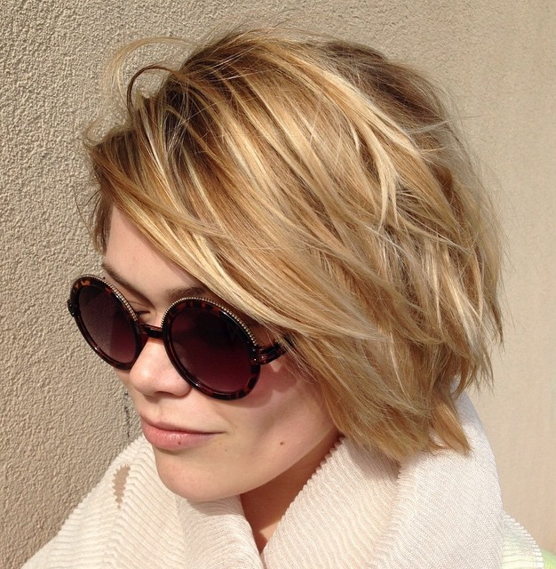70 devastatingly cool haircuts for thin hair 1 short layered bob haircut urmus Gallery