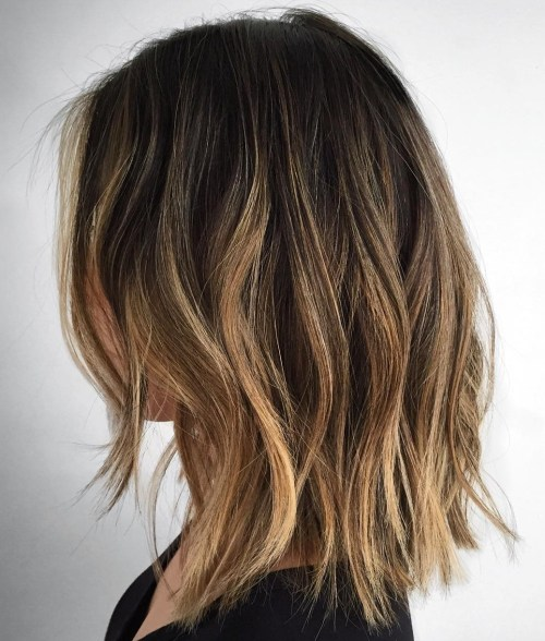 Messy Lob For Fine Hair